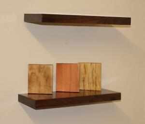 Solid Wood Floating Shelves with Hidden Steel Bracket - Free Shipping