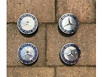 4X Mercades Alloy wheel centre caps