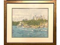 Painting Large Framed Original Batik on Silk by Elizabeth Sykes