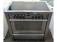 Stoves 900ea Silver Electric Range Cooker, 900mm width, 6 month cover included