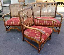 Vintage oak bergere suite