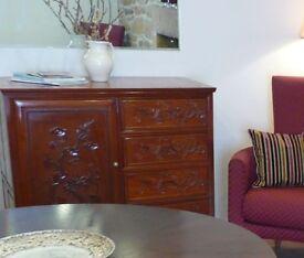 "Mahogany colour [""Rosewood"" ] solid wood sideboard/Gentleman's/kids cupboard 42""x 40""x 22"""
