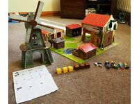 ELC Wooden Farm Set and ELC Wooden Windmill with ELC Figures