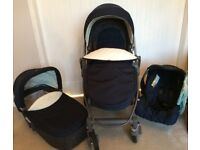 (LIKE NEW) Graco Evo Avant Travel system/pram/pushchair - (like an iCandy or bugaboo)