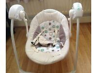 Kinderkraft Musical Baby Swing with Timer
