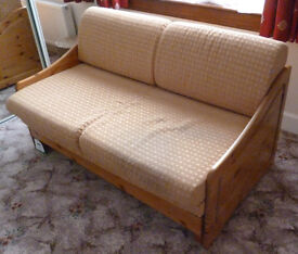 Comfortable double sofa bed covered by 1988 fire resistant regulations.
