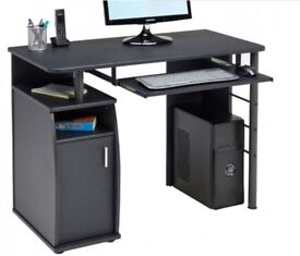 Black home office desk - Brand new and un-opened