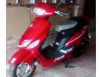 PULSE SCOUT 49cc Scooter Red Moped