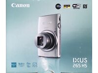 Canon Ixus 265 HS Full HD WiFi 16MP camera - boxed, perfect working condition - 12x optical zoom