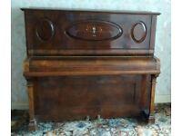 upright mahogany piano,