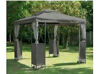 Grey Luxury Metal Framed Garden Party Canopy/Gazebo 2.5m x 2.5m