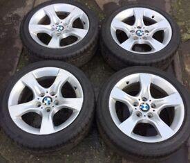 "17"" Genuine BMW 3 Series E90 E91 Alloy Wheels & Tyres 225/45R17 5x120 Fits 1 Z3 Z4 4 VW T5 Transport"