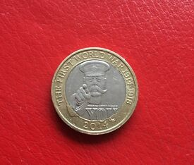 Rare Lord Kitchener First World War £2 coin
