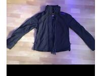 Black purple superdry windcheater triple zip waterproof jacket large