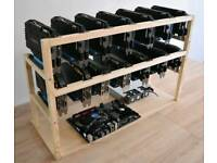Mining rig frame fits 12-14 GPUs graphic cards