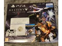 PS4 Limited Edition Console 500GB Glacier White + 6 games and 5 Blurays