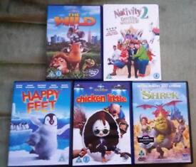 5 x Family Movie DVDs £2.00 the lot
