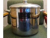 LARGE MASTERCLASS STAINLESS STEEL STOCK POT