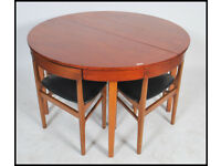 Mid Century Teak Danish Style Extending Dining Table and Chairs