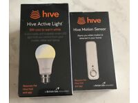 Hive active light cool to warm white bayonet and hive motion sensor new and sealed