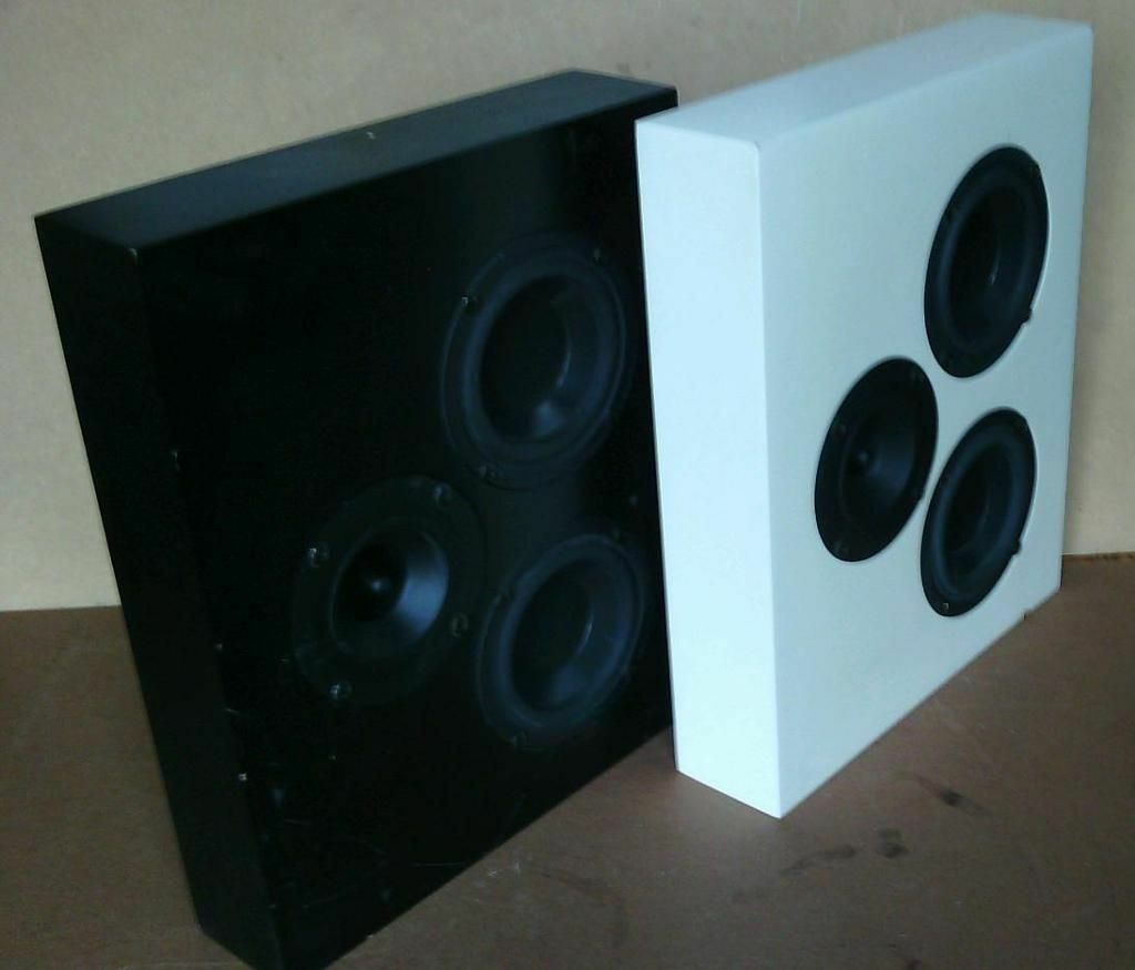 studio monitor artcoustic diablo 250w low profile wall mounted monitor speakers black white. Black Bedroom Furniture Sets. Home Design Ideas