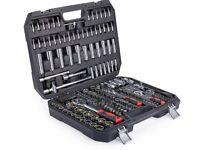 (NEW) Socket Set 193 PCS Screwdriver Bits Ratchet Handle Torx 1/2'' 1/4'' 3/8'' Tool