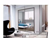 """Wow Offer"""" ARSANAL 2 Door Sliding Mirror Wardrobe -- Same Day Delivery """"Cheap Price"""""""