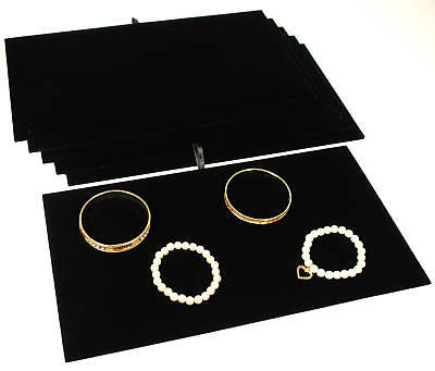 6 Black Velvet Padded Jewelry Counter-top Display Pads 14 18 X 7 58