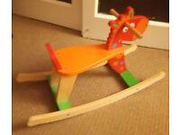Wooden First Rocking Horse