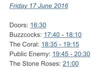 Stone Roses Tour Tickets
