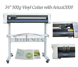 "NEW 34"" 500g Vinyl Cutter Plotter with Artcut2009 for Vinyl Crafts- 110301"