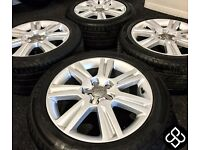 "NEW GENUINE 17"" AUDI A4 ALLOY WHEELS WITH TYRES - 5 X 112 - Wheel Smart"
