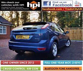 2009 (59) Ford Focus 1.8 Zetec 5 DOOR *** FULL 1 YEAR MOT *** NEW TYRES, VALETED - FULL HPI CLEAR