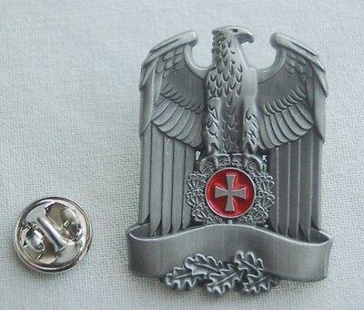 ADLER Banner Eichenlaub EK silberfarben Militäry Militaria Pin Anstecker # 348 B