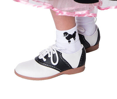 1950s Child Classic Style Oxford Saddle Shoes for Poodle Skirt Costumes