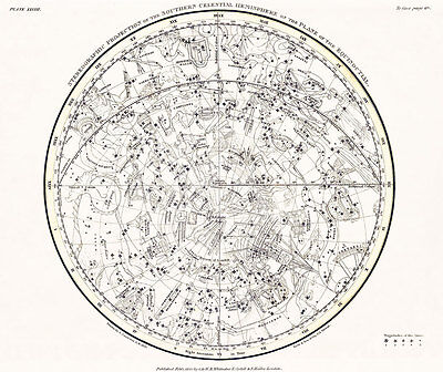 Astronomy Celestial Atlas Jamieson 1822 Plate-28 Art Paper or Canvas Print
