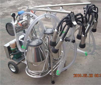 Electric Vacuum Pump Milking Machine - Double Tank Extras - Fedex