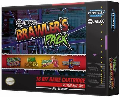 Super Nintendo Jaleco Brawler's Pack Video Game Cartridge - 4 Giochi SNES NUOVA