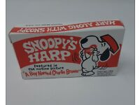 Sealed in BOX Jaw Harp Peanuts cartoon Snoopy/'s Mouth