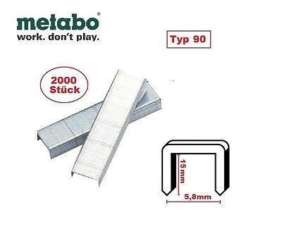 Metabo Tacker Klammern Type 90 / 15 mm 2000 St. KG 90 25 40 Kombi 32 0901053790