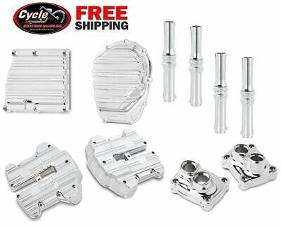 Arlen Ness 10-Gauge Chrome Engine Cover Kit for Milwaukee-Eight Models