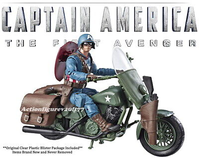 "2019 Marvel Legends 6"" AVENGERS WWII CAPTAIN AMERICA w/ Motorcycle ***NO BOX***"