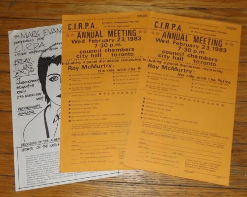 TORONTO Citizens Independent Review Police Activity CIRPA Albert Johnson 1980s
