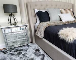 Gem Mirror Bedside Tables Dresser