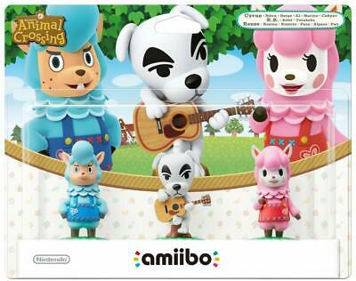 Amiibo Animal Crossing 3 Pack Reese/K.K. Slider/Cyrus New | Sealed