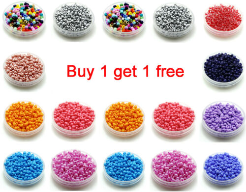 Beads - Free Shipping 200pcs 3mm 8/0 Round Czech Glass Seed Spacer Beads Jewelry Making
