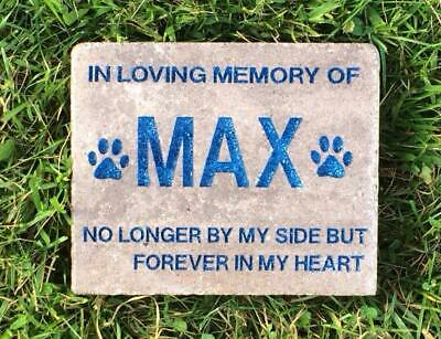 Personalized, Engraved Pet Memorial Stone, Dog, Cat, Horse, Garden Stone, Angel](Angel Dog)