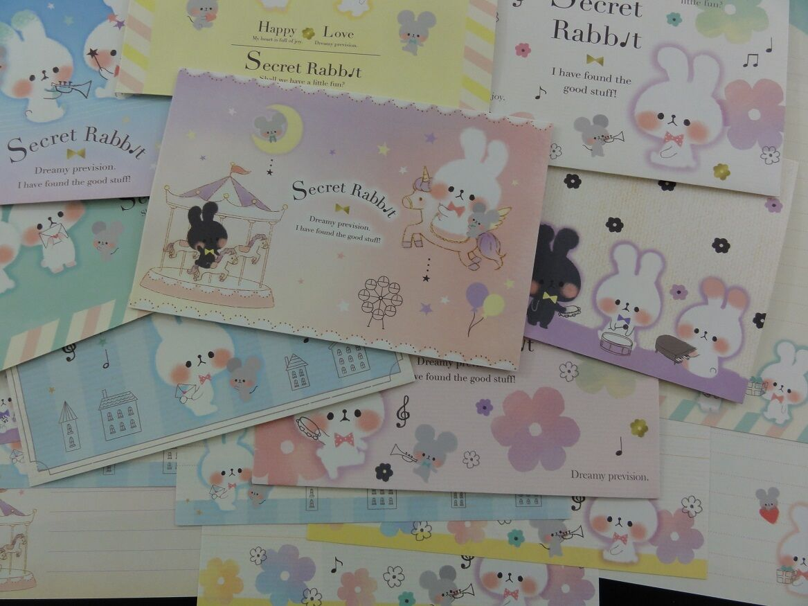 Secret Rabbit Letter Set writing paper envelope kawaii cute