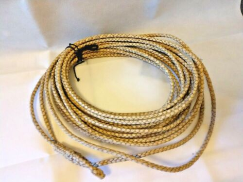Vintage Cowboy Lariat Lasso Rawhide Leather Rodeo Ranch Rope 68-70 ft long
