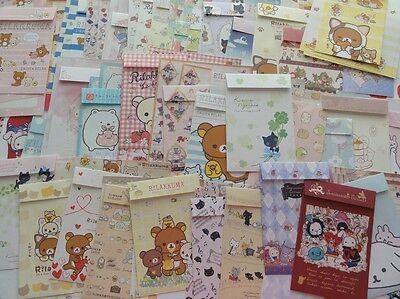 San-X Stationery 15 Letter Envelope Set writing paper cute Variety Rilakkuma